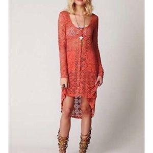 FP BEACH NWT Crochet Duster Cardigan Size S